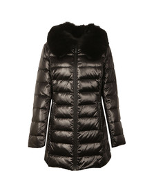 Michael Kors Womens Black Mid Length Puffer Jacket