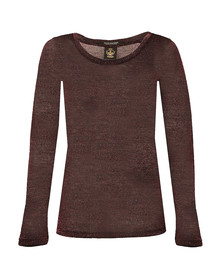 Maison Scotch Womens Red Basic Long Sleeve T Shirt