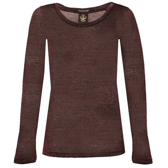 Maison Scotch Womens Red Basic Long Sleeve T Shirt main image
