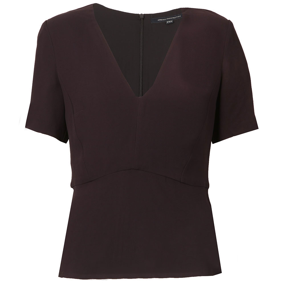 Esther Crepe Light V Neck Top main image