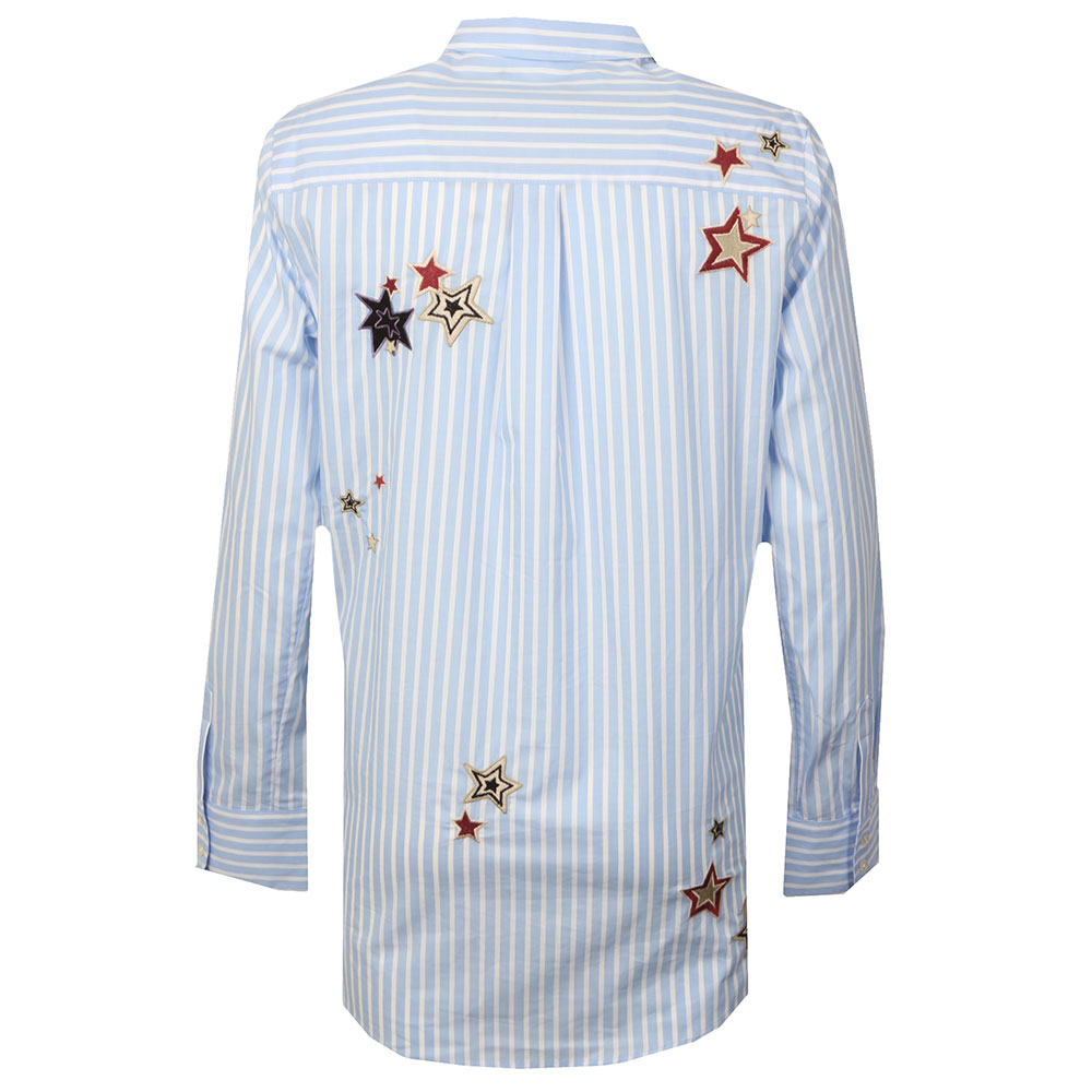 Long Sleeve Stripe Embroidered Shirt main image