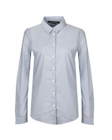 French Connection Womens Blue Eastside Cot Stripe Shirt