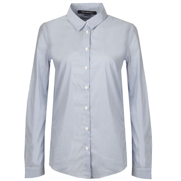French Connection Womens Blue Eastside Cot Stripe Shirt main image