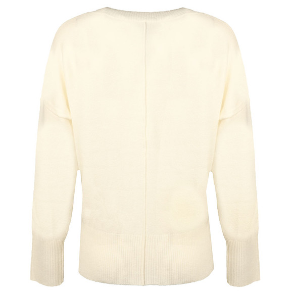 French Connection Womens White Della Vhari L/S Crew Neck Jumper main image
