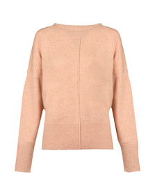 French Connection Womens Pink Della Vhari L/S Crew Neck Jumper