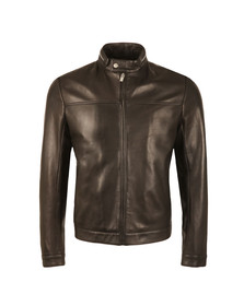 Hugo Mens Black Luckas Leather Jacket