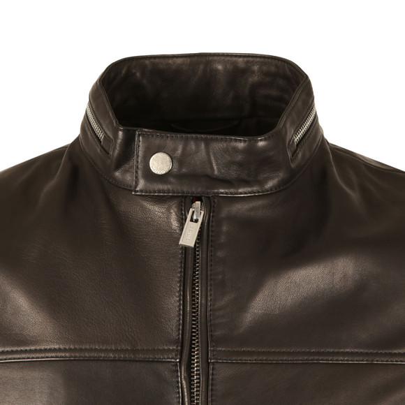 HUGO Mens Black Luckas Leather Jacket main image