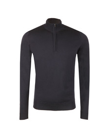 John Smedley Mens Blue Barrow Half Zip Knit