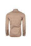 Aquascutum Mens Brown York  Club Check Shirt