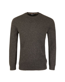 Aquascutum Mens Grey Pennington CC Elbow Patches Jumper