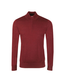 Aquascutum Mens Red Hamilton Half Zip Knit