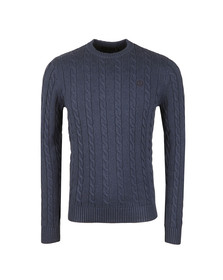 Henri Lloyd Mens Blue Kramer Crew Knit Jumper