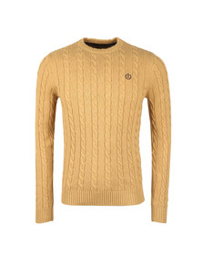 Henri Lloyd Mens Brown Kramer Crew Knit Jumper