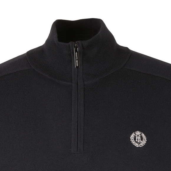 Henri Lloyd Mens Blue Miller Regular Half Zip Knit main image