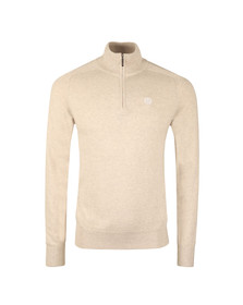 Henri Lloyd Mens Beige Miller Regular Half Zip Knit