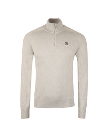 Henri Lloyd Mens Grey Miller Regular Half Zip Knit