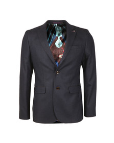Ted Baker Mens Blue Semi Plain Wool Blazer