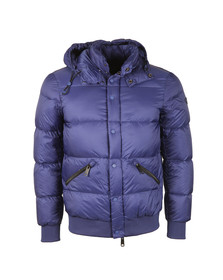 Armani Jeans Mens Blue Hooded Down Jacket