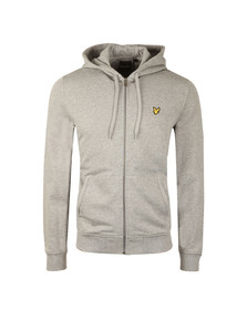 Lyle and Scott Mens Grey Full Zip Hooded Sweat