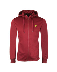 Lyle and Scott Mens Red Hooded Tricot Jacket