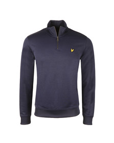 Lyle and Scott Mens Blue Tricot 1/4 Zip Sweat