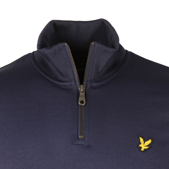 Lyle and Scott Mens Blue Tricot 1/4 Zip Sweat main image