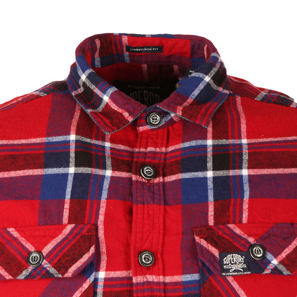Superdry Mens Red Lumberjack LS Shirt main image