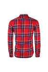 Superdry Mens Red Lumberjack LS Shirt