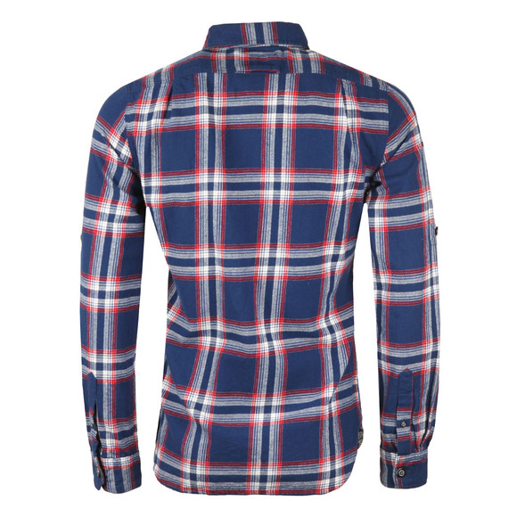Superdry Mens Blue Lumberjack LS Shirt main image