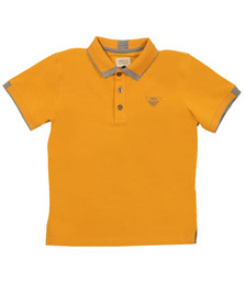 Armani Junior  Boys Yellow Tipped Polo Shirt