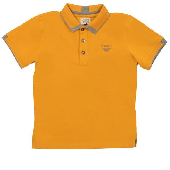 Armani Junior  Boys Yellow Tipped Polo Shirt main image