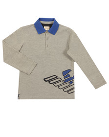 Armani Junior  Boys Grey 6Y4F08 Long Sleeve Polo Shirt