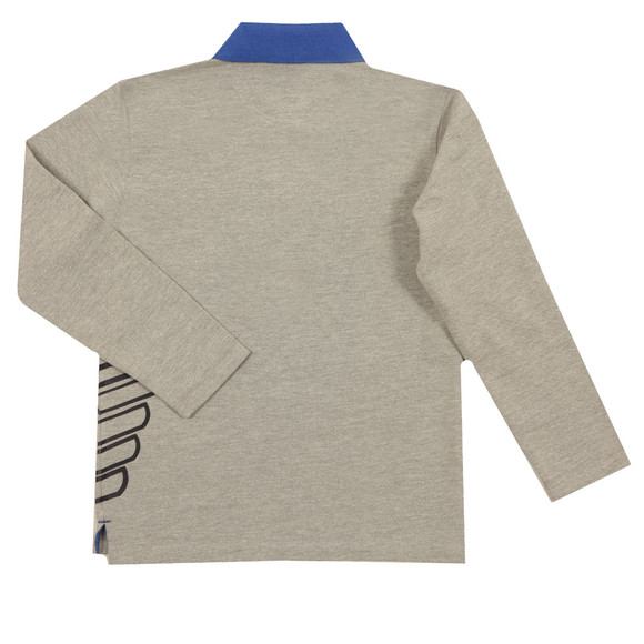 Armani Junior  Boys Grey 6Y4F08 Long Sleeve Polo Shirt main image