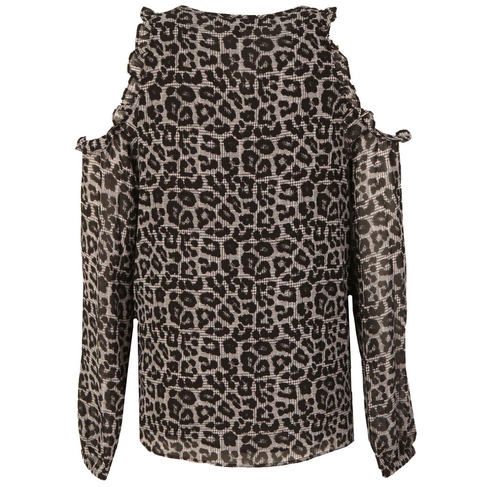 Leopard Cold Shoulder Top main image