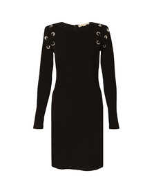 Michael Kors Womens Black MJ Lacing Dress