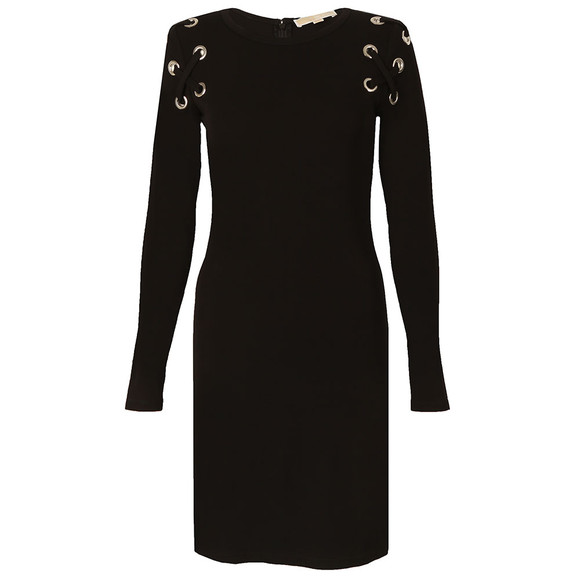 Michael Kors Womens Black MJ Lacing Dress main image