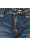 True Religion Womens Indigo Cadence Jenny Curvy Flap Super T Jean