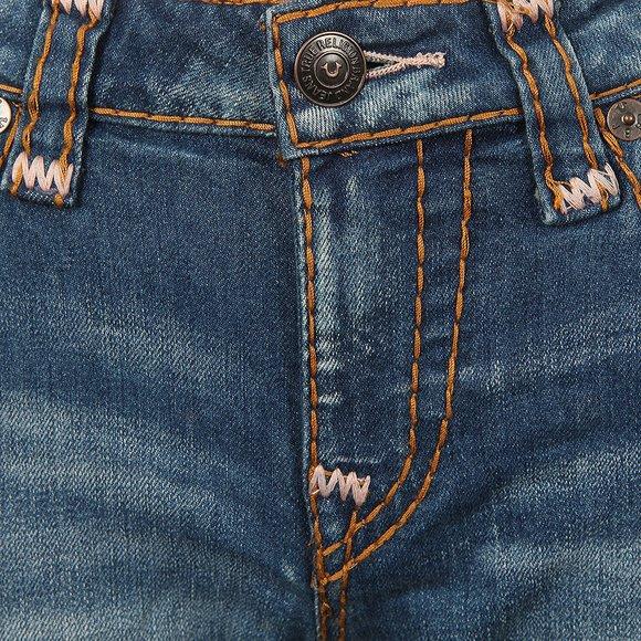 True Religion Womens Indigo Cadence Jenny Curvy Flap Super T Jean main image