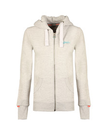 Superdry Womens Grey Orange Label Primary Zip Hoody