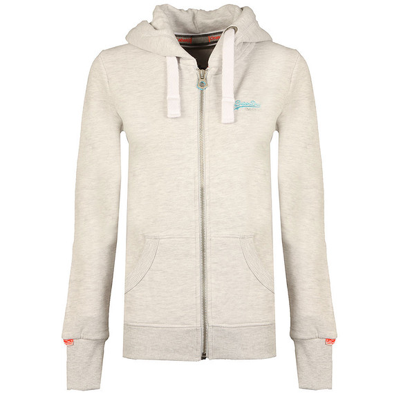 Superdry Womens Grey Orange Label Primary Zip Hoody main image