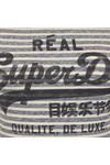 Superdry Womens Blue Vintage Logo Stripe Entry Tee