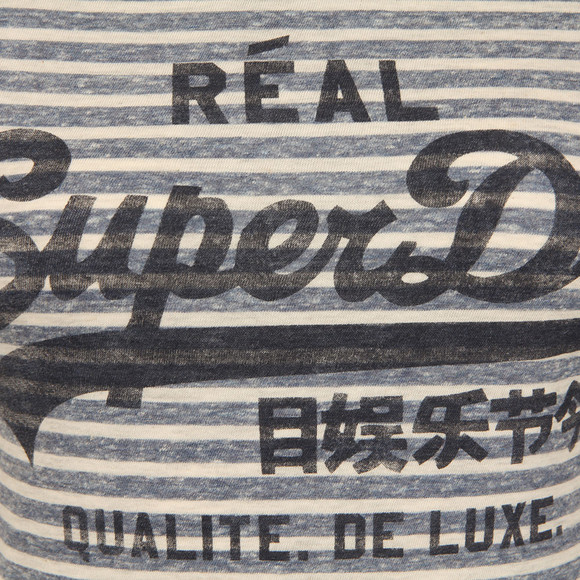 Superdry Womens Blue Vintage Logo Stripe Entry Tee main image