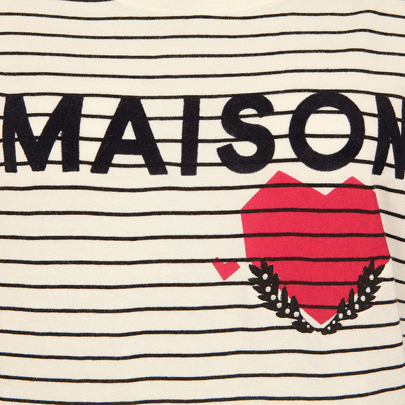 Maison Scotch Womens Off-White Short Sleeve Logo T Shirt main image