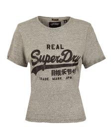 Superdry Womens Grey Vintage Logo Boxy T Shirt
