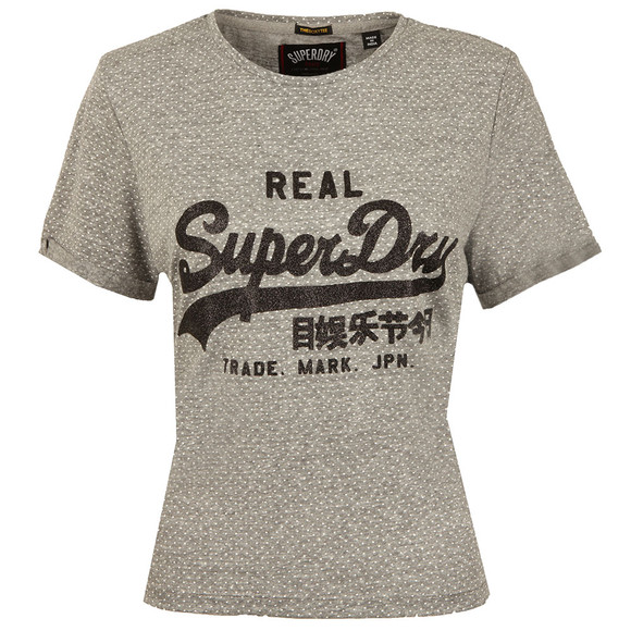 Superdry Womens Grey Vintage Logo Boxy T Shirt main image