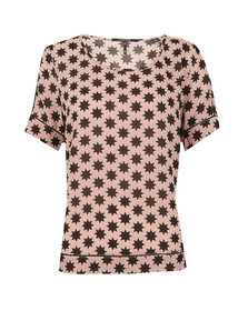 Maison Scotch Womens Red Silky Feel Printed Blouse