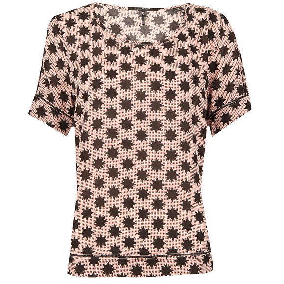 Maison Scotch Womens Red Silky Feel Printed Blouse main image