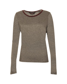 Maison Scotch Womens Grey Longsleeve Tee With Detail