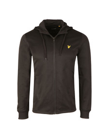 Lyle and Scott Mens Black Hooded Tricot Jacket