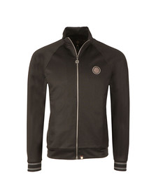 Pretty Green Mens Black Zip Through Track Top